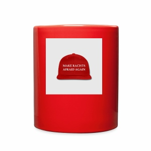 make racists afraid again snap back baseball cap - Full Color Mug