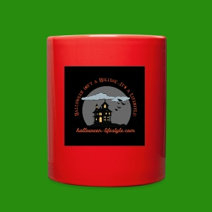 Halloween Lifestyle Haunted House Logo - Full Color Mug
