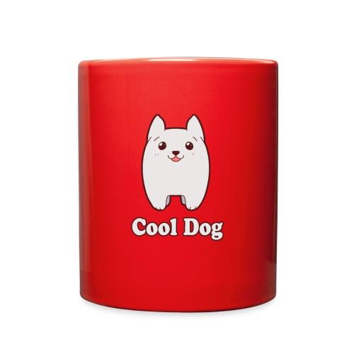 Cool Dog Fluffy Dog Logo - Full Color Mug