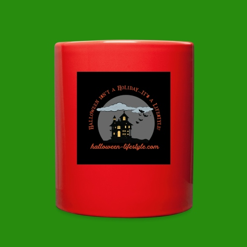 Halloween Lifestyle Haunted House Logo - Full Color Mug