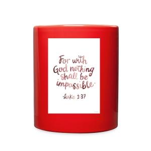 Luke 1:37 - Full Color Mug