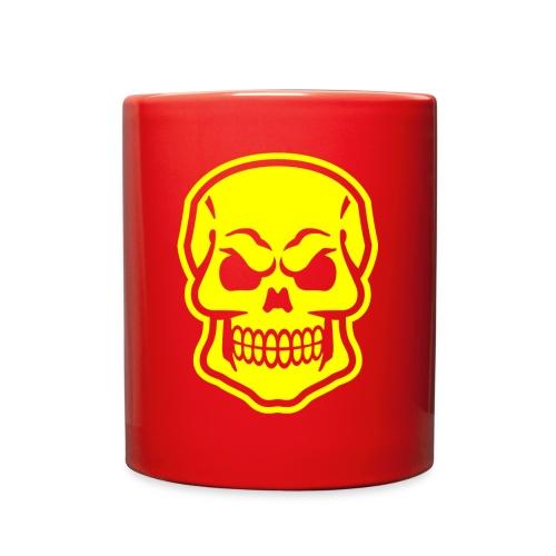 Skull vector yellow - Full Color Mug