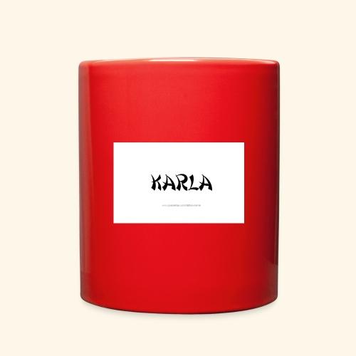 tattoo design name karla - Full Color Mug