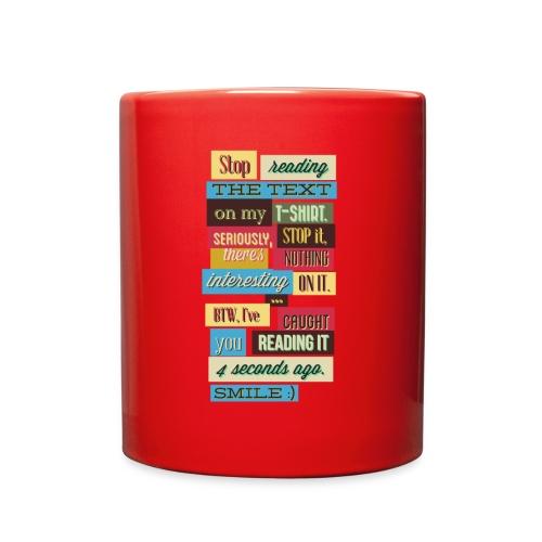 Interesting text - Full Color Mug