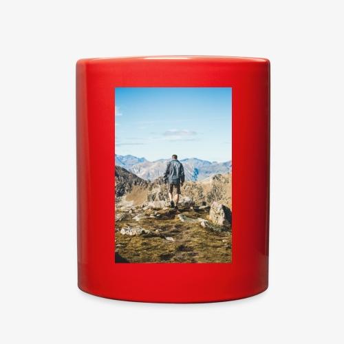 man hiking - Full Color Mug
