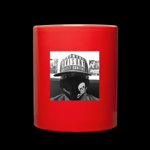 freaker126 covered face black and white photo - Full Color Mug