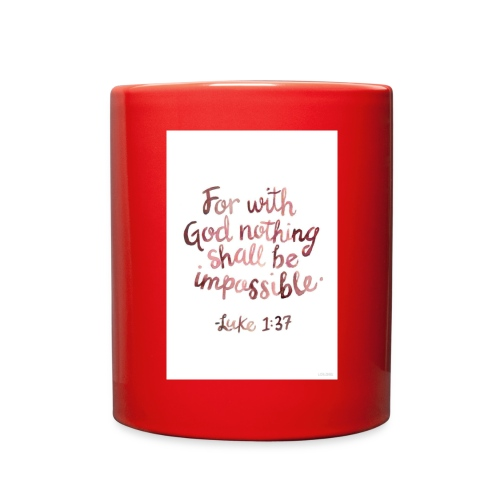 Luke 1:37 - Full Color Mug