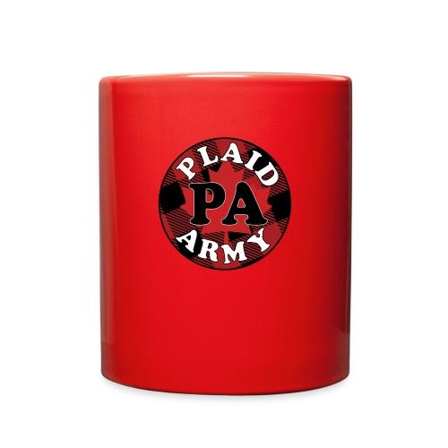 plaid army round - Full Color Mug