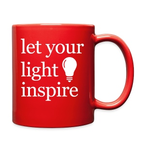 Let Your Light Inspire Tee (white font) - Full Color Mug