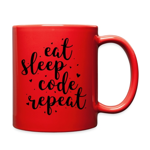 eat sleep code repeat - Full Color Mug