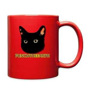 PunchTheEarth Cat with Text - Full Color Mug