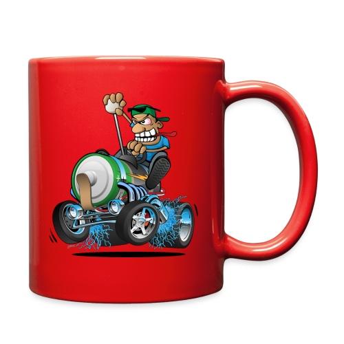 Hot Rod Electric Car Cartoon - Full Color Mug