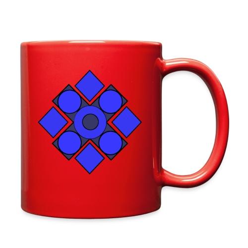 Geometric Cerulean - Full Color Mug