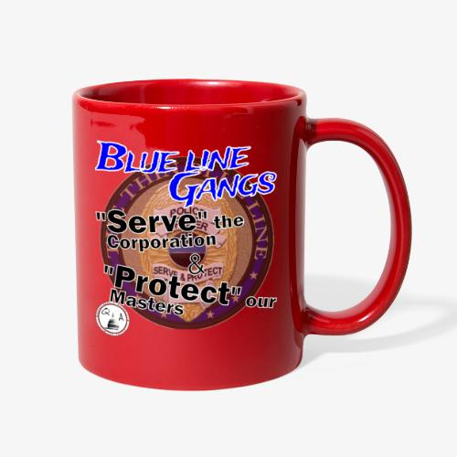 Thin Blue Line - To Serve and Protect - Full Color Mug