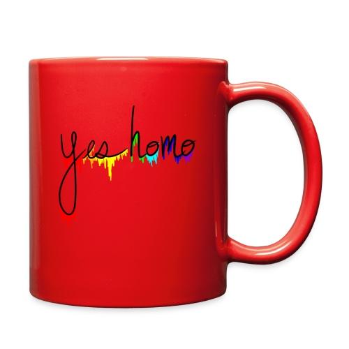 Yes Homo Rainbow Drip - Full Color Mug