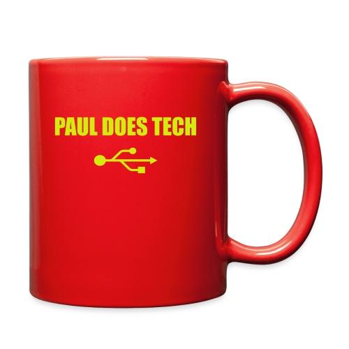 Paul Does Tech Yellow Logo With USB (MERCH) - Full Color Mug