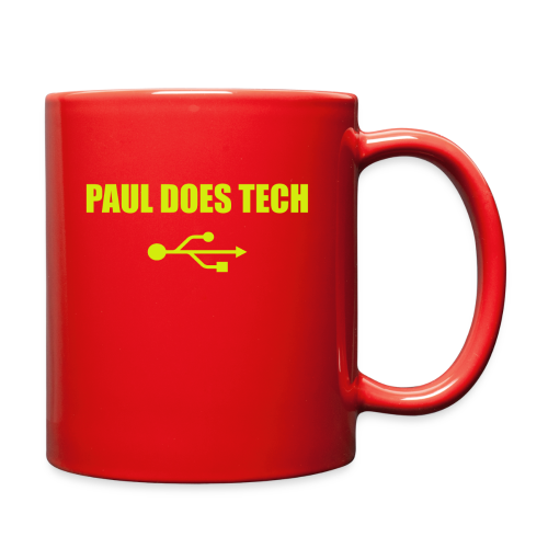 Paul Does Tech Yellow Logo With USB (MERCH) - Full Color Mug