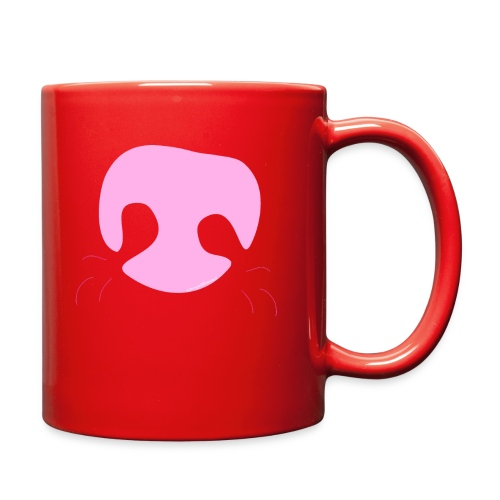 Pink Whimsical Dog Nose - Full Color Mug