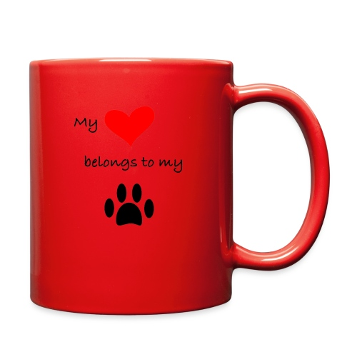 Dog Lovers shirt - My Heart Belongs to my Dog - Full Color Mug