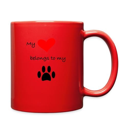 Dog Lovers shirt - My Heart Belongs to my Dog - Full Color Mug