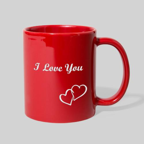 Double Heart Mug White - Full Color Mug