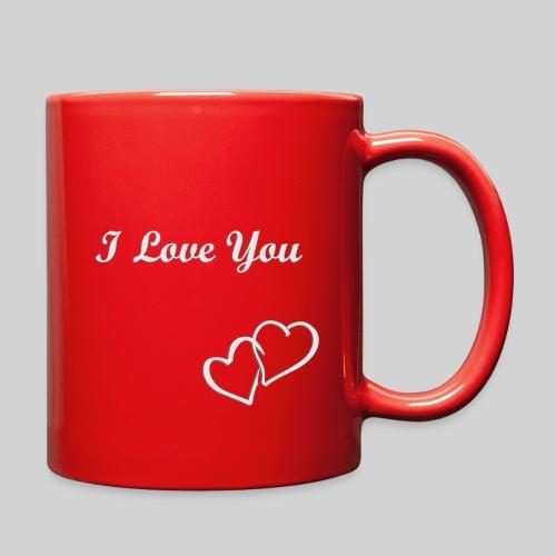 Double Heart Mug White - Full Color Mug