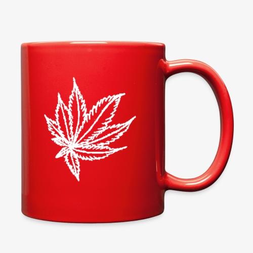 white leaf - Full Color Mug