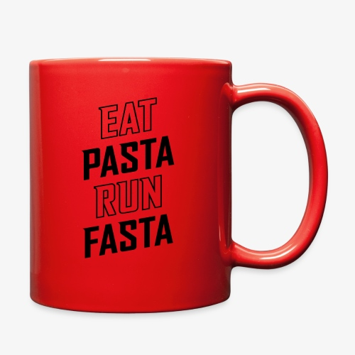 Eat Pasta Run Fasta v2 - Full Color Mug