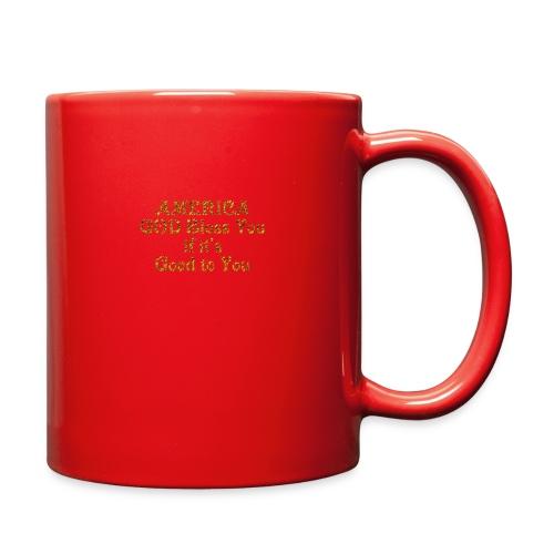 America God Bless You - Full Color Mug