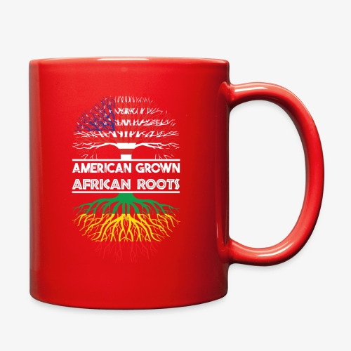 American Grown With African Roots T-Shirt - Full Color Mug
