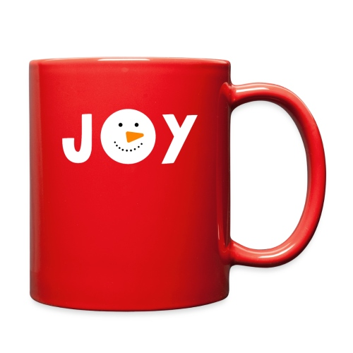 JOY - Snowman Christmas Design! - Full Color Mug