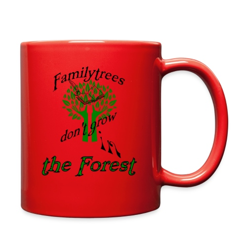 genealogy family tree forest funny birthday gift - Full Color Mug