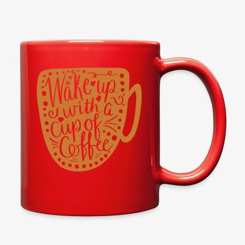 Wake Up Coffee Cup Design - Full Color Mug