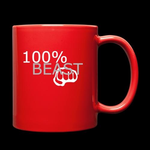 100% beast logo white - Full Color Mug