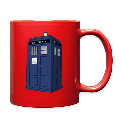 blue call box - Full Color Mug