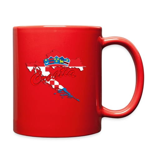 Croatia Football Team Colours T-Shirt Treasure Des - Full Color Mug