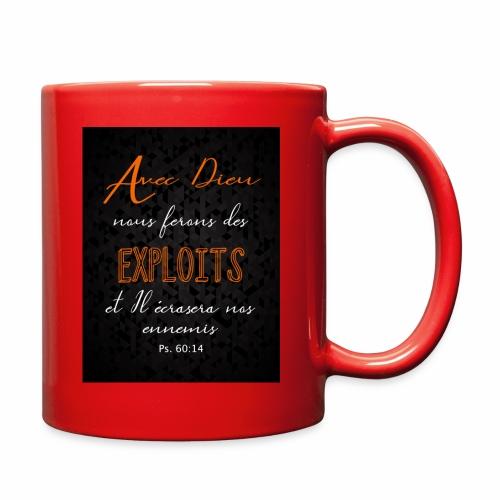 Avec Dieu nous ferons des exploits - Full Color Mug