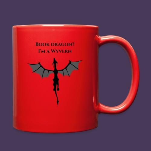 Book Dragon? I'm a Wyvern (black) - Full Color Mug
