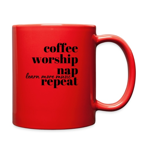 Coffee Worship Nap Tee - Full Color Mug