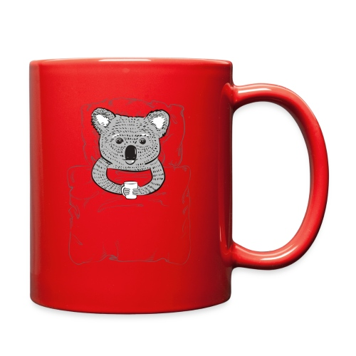 Print With Koala Lying In A Bed - Full Color Mug