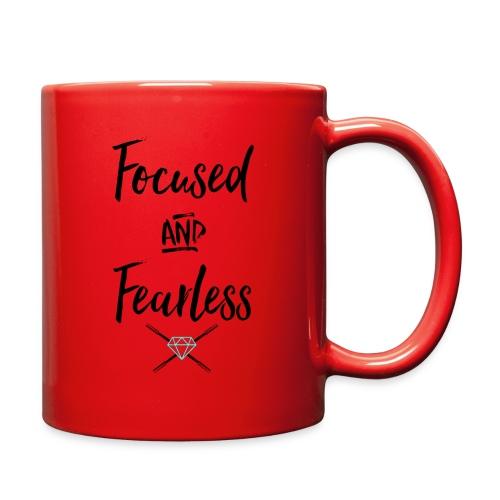 focused fearless (black) - Full Color Mug