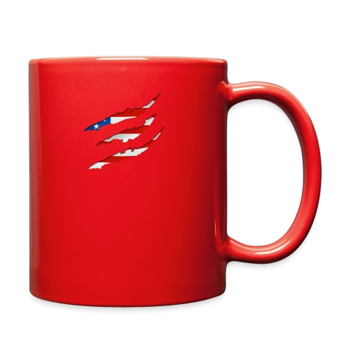 3D American Flag Claw Marks T-shirt for Men - Full Color Mug