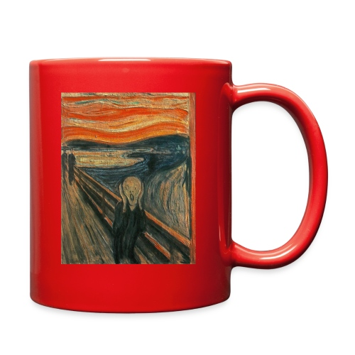 The Scream (Textured) by Edvard Munch - Full Color Mug