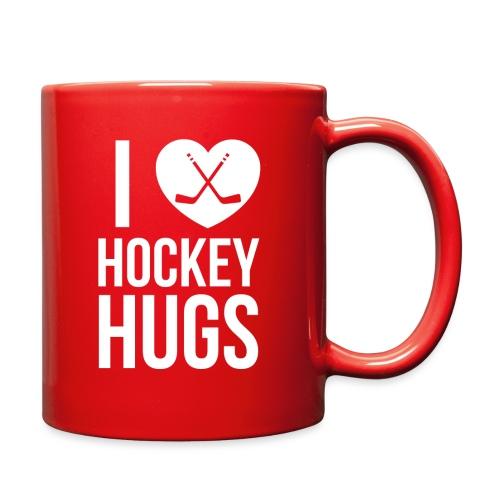 I [Heart] Hockey Hugs - Full Color Mug