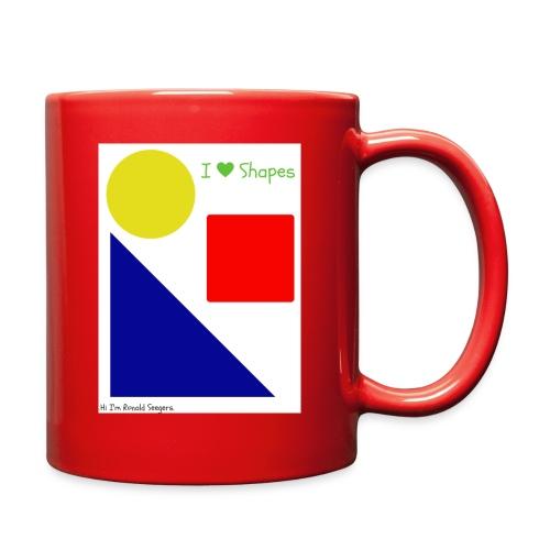 Hi I'm Ronald Seegers Collection-I Love Shapes - Full Color Mug