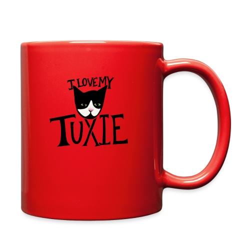 I love my tuxedo cat - Full Color Mug