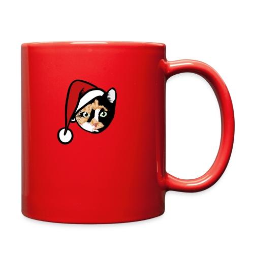 Calico Cat Santa - Full Color Mug