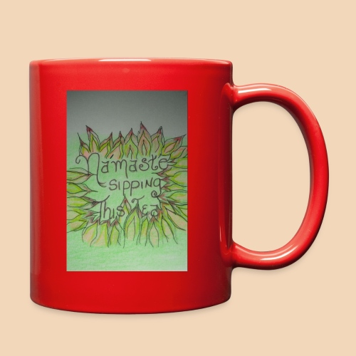 Namaste Tea Mug/w Lotus petals - Full Color Mug