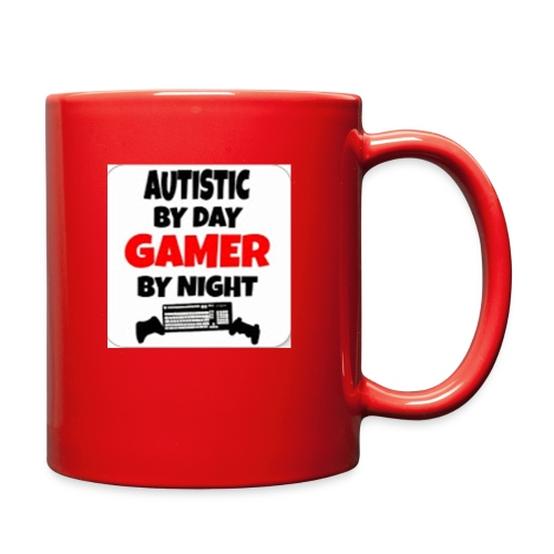 Autistic By Day Gamer By night - Full Color Mug