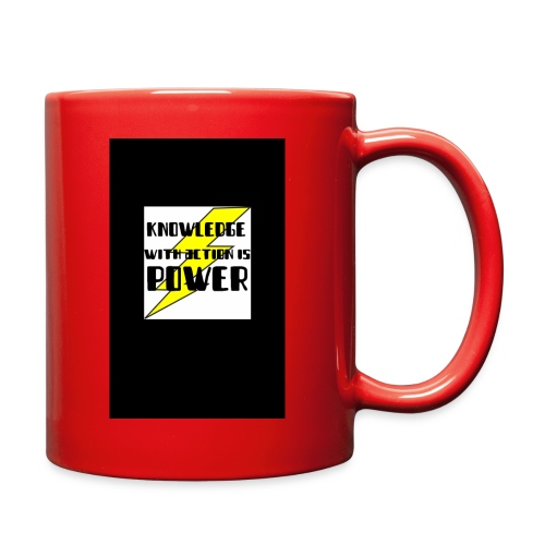 KNOWLEDGE WITH ACTION IS POWER! - Full Color Mug